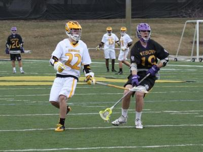 Men's Lacrosse Moves to 2-0 with 13-10 Win over Aurora