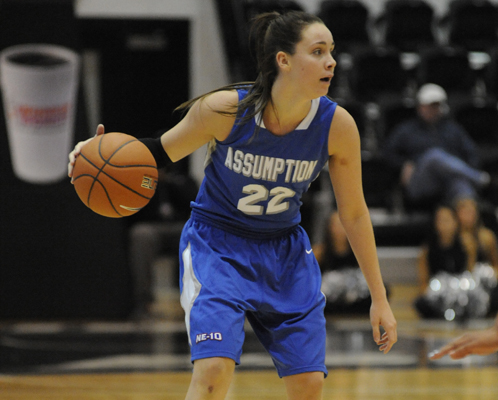 Ray Leads Hounds Past Merrimack, 76-66