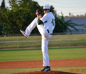 Brian Dudzinski allowed one hit and struck out 10 in six shutout innings on Mar. 17, 2012. (Photo by Amanda Simpson.)