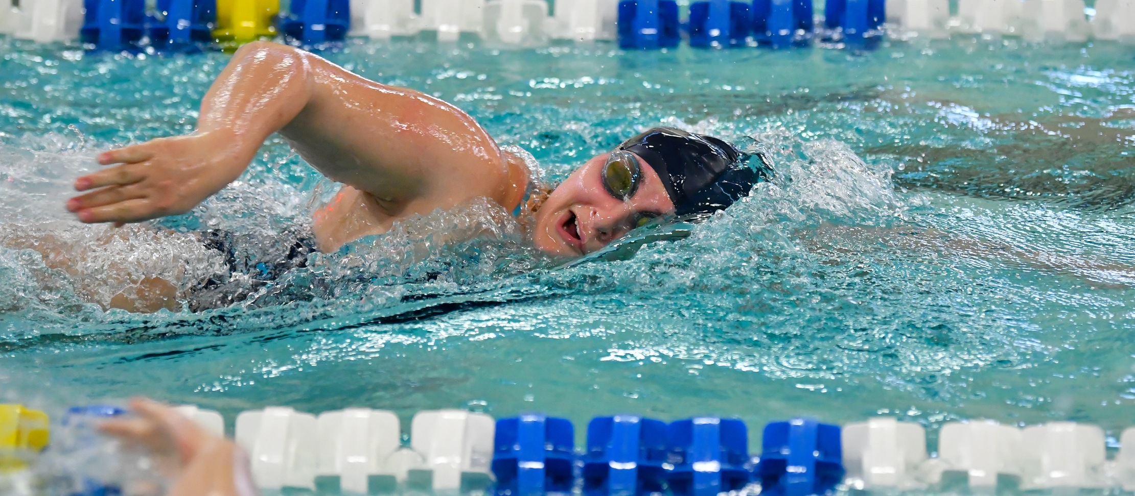 Swimming and Diving Opens Competition at 2020 NEWMAC Championships