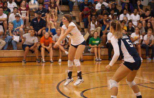 Cobra Volleyball Battles Back to Defeat Pfeiffer 3-2