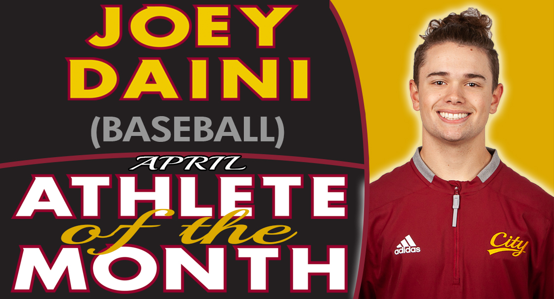Joey Daini named the SCC April Male Athlete of the Month