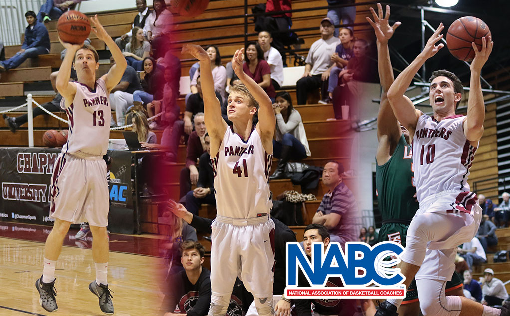 Three Panthers recognized on NABC Honors Court