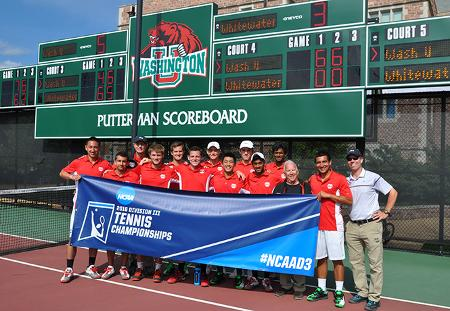 No. 6 Washington University Men's Tennis Headed to NCAA Quarterfinals for 10th Consecutive Year