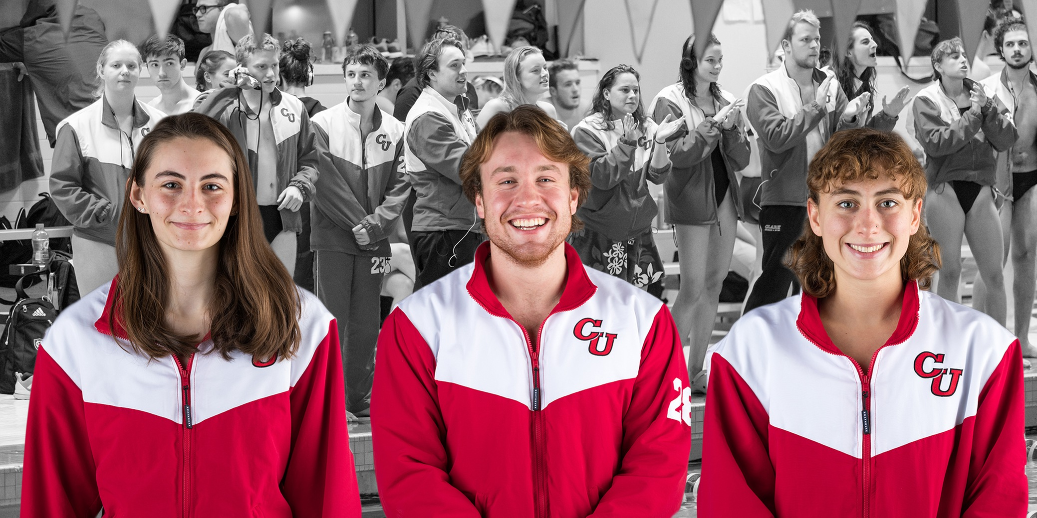 Mitchell, Muratori, and Liscord named 2018-2019 Swimming and Diving Team Captains