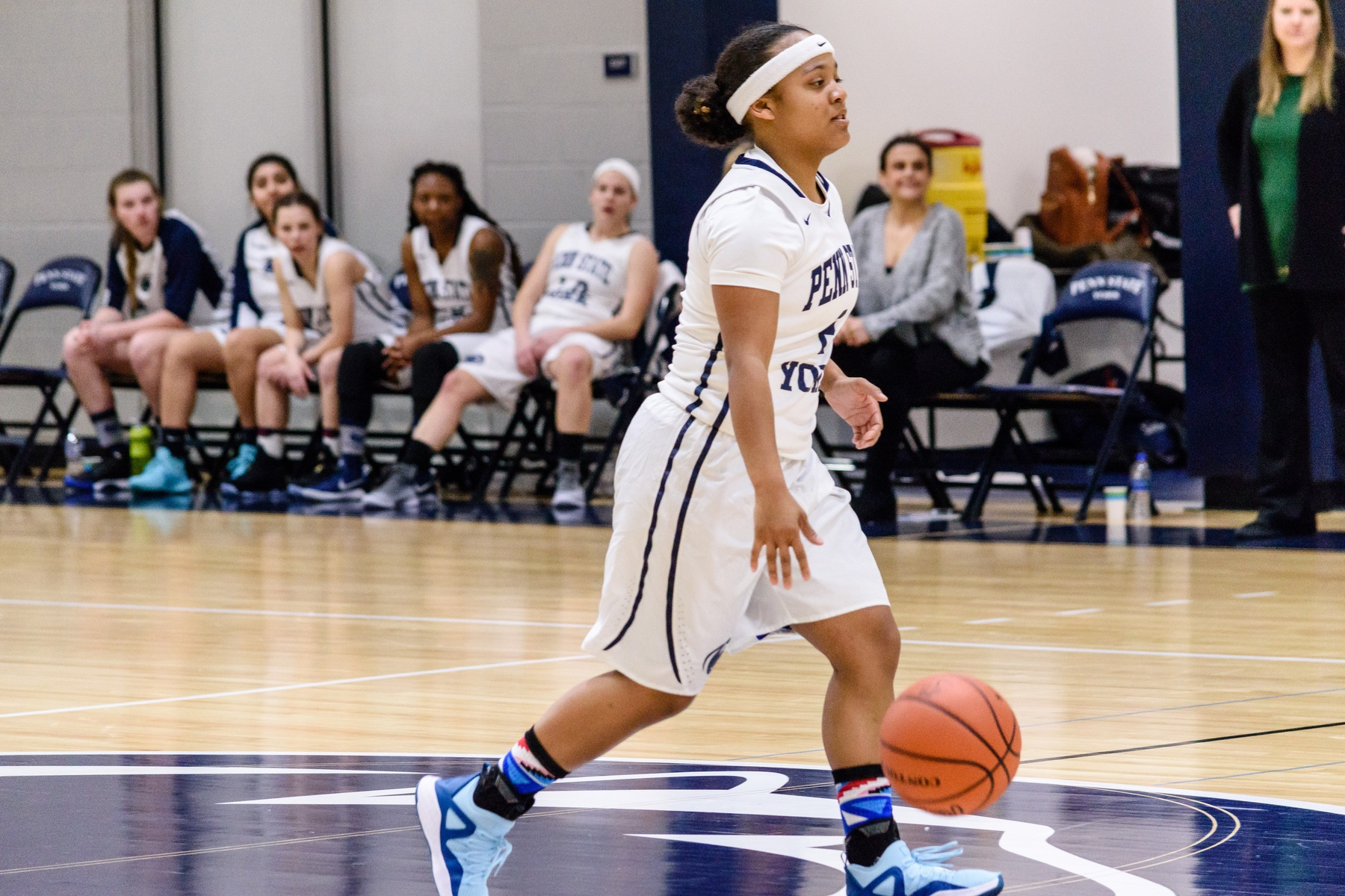 Junior Charizma Johnson sets up the offense for Penn State York during a game earlier this season.