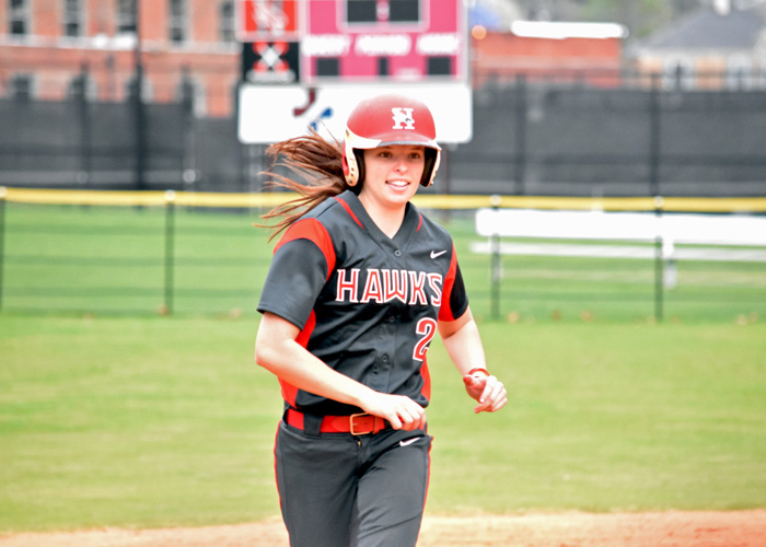 Sophomore Lindsey Selph rounds the bases after hitting a three-run home run against Maryville on Saturday.