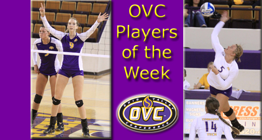 Gray, Meffert garner OVC Player of the Week honors