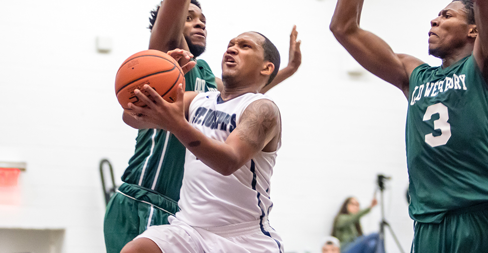 Men's Basketball Scores Season High in Shootout, But Falls Short to CCNY