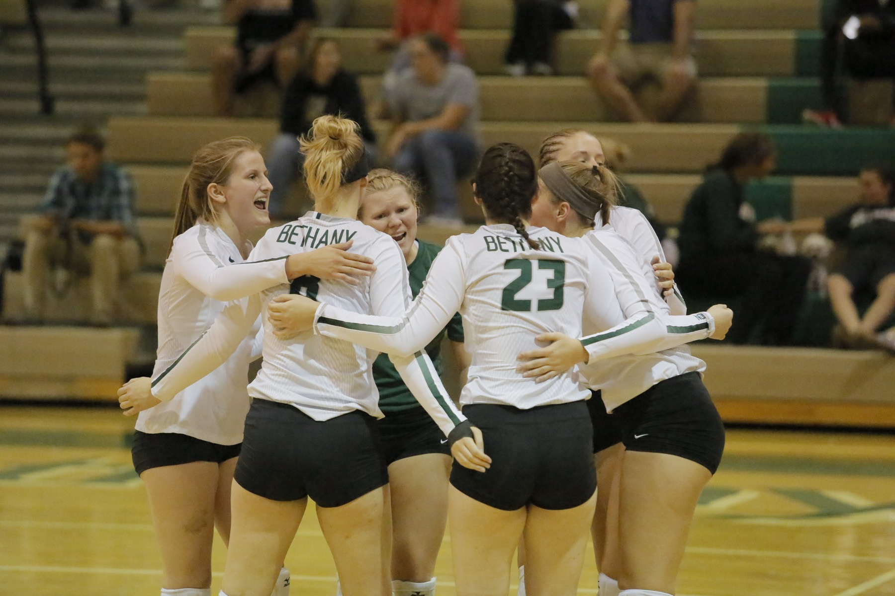 Bison Sweep the Jackets in Annual Dig Pink Game