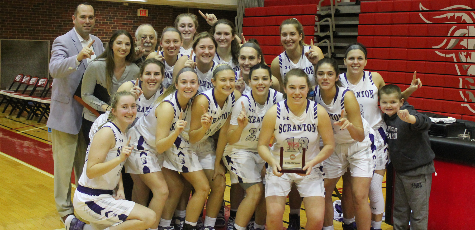 With their 71-40 win over UMass-Boston on Monday, the Lady Royals captured the 2018 WPI Holiday Tournament Title.