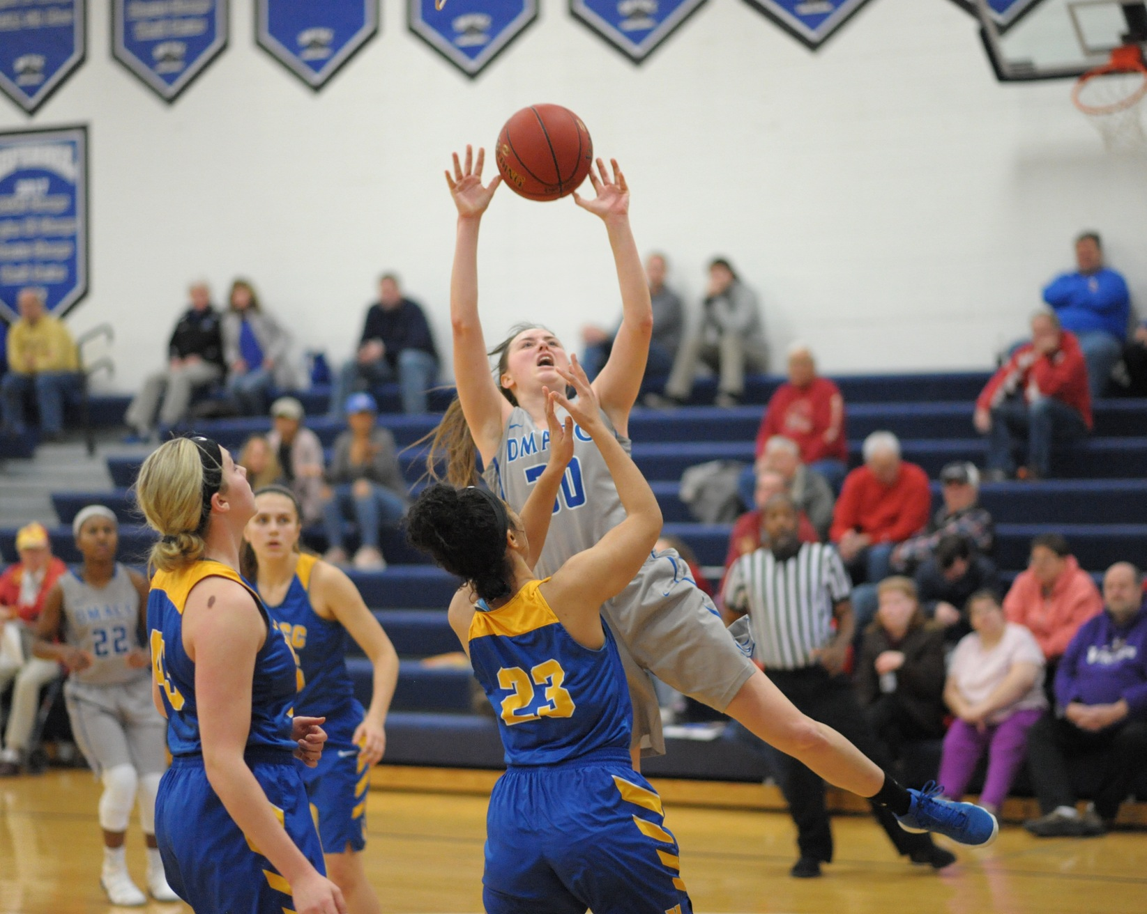 Mitchell, Atwood, Clark Record Double-Doubles as DMACC Women #10 NIACC