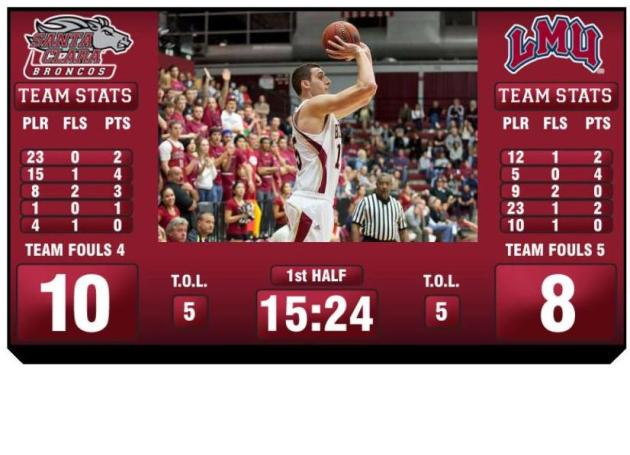 Santa Clara Puts New Video Board in Operation in the Leavey Center