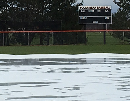Baseball game with Wittenberg on Tuesday postponed due to rain, moved to Monday, Apr. 30