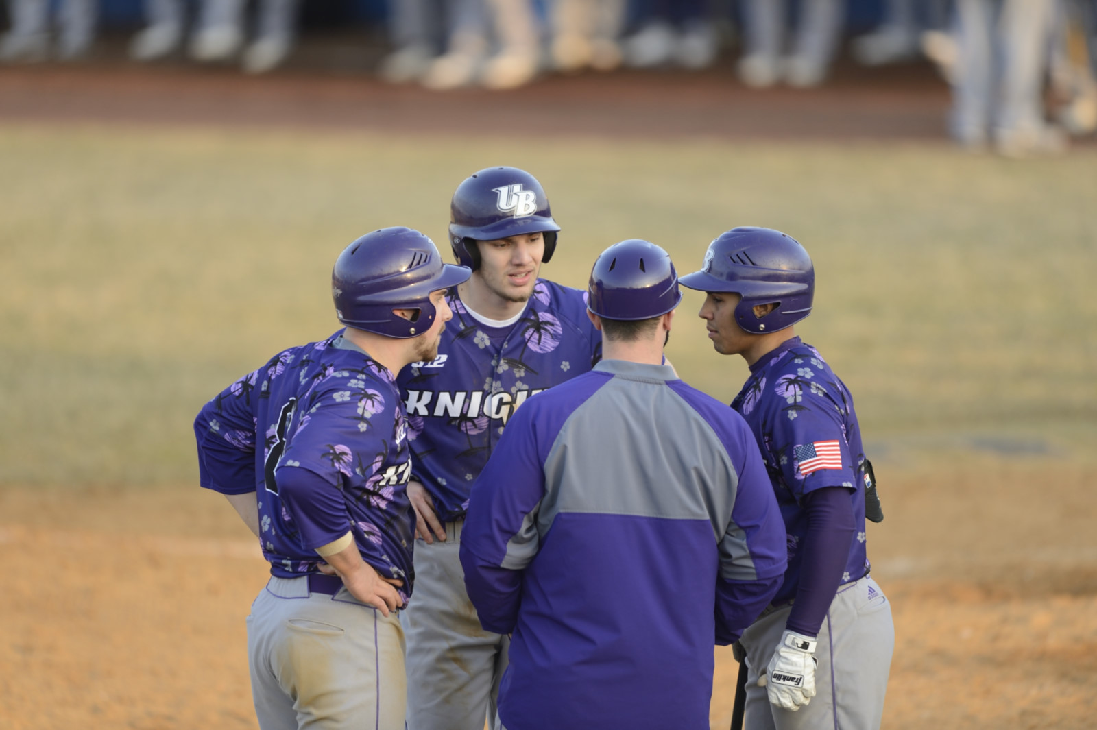 Purple Knights Start Fast But Fall To Dowling In ECC Baseball Action