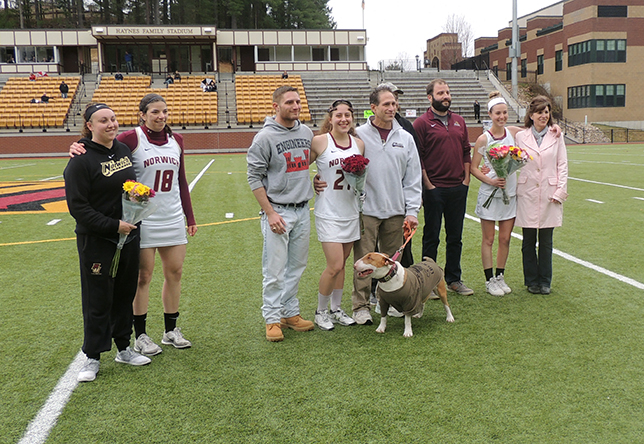 Women's Lacrosse: Norwich Downed by Saints On Senior Day