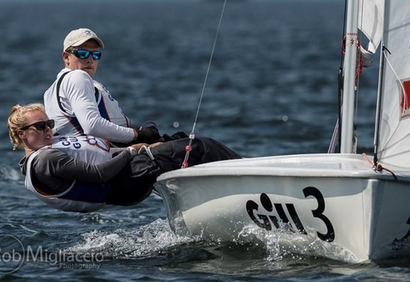 Sailing 12th at Gill Coed National Championship