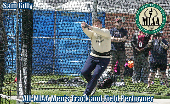 Gilly Named to All-MIAA Men's Track and Field Team