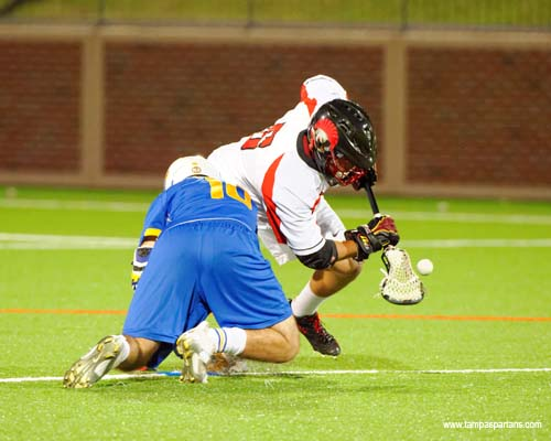 Nick Ferriero won 21 faceoffs in the game.
