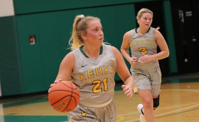 Sam Laranjo (21) tied her career-high with 16 points on Saturday at Cazenovia