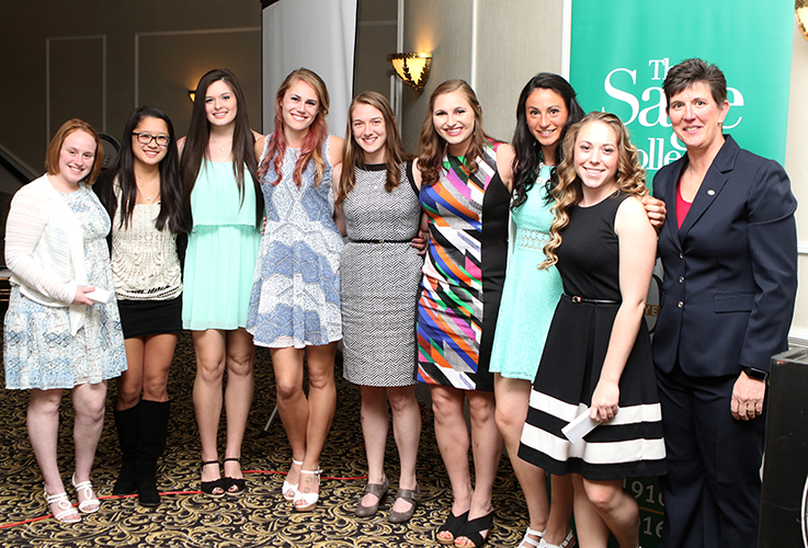 Sage Women's Volleyball Players honored at Athletic Award Banquet