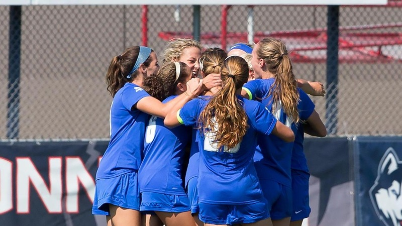 Cafferky Nets Thrilling Game-Winner, Lifting Women's Soccer Over URI 1-0