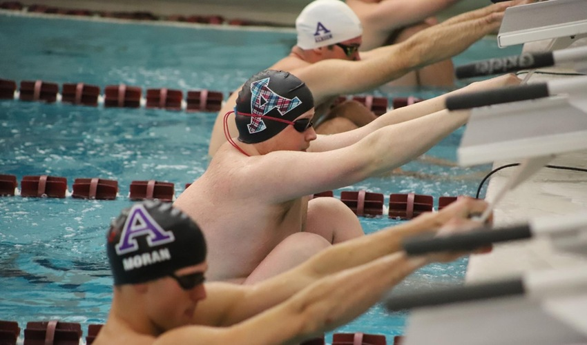 Swim and Dive Competes against Olivet