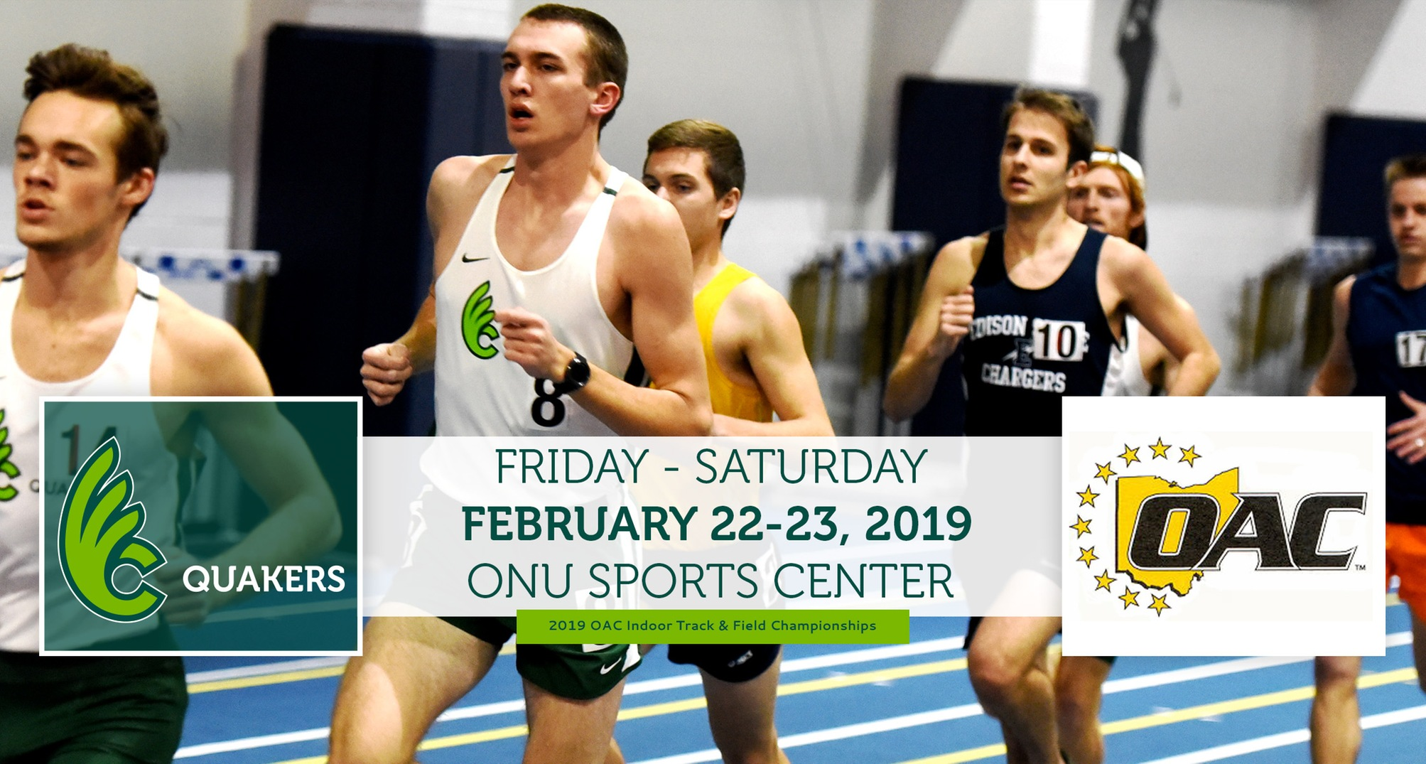 Men's Track & Field To Compete at OAC Indoor Championships This Weekend