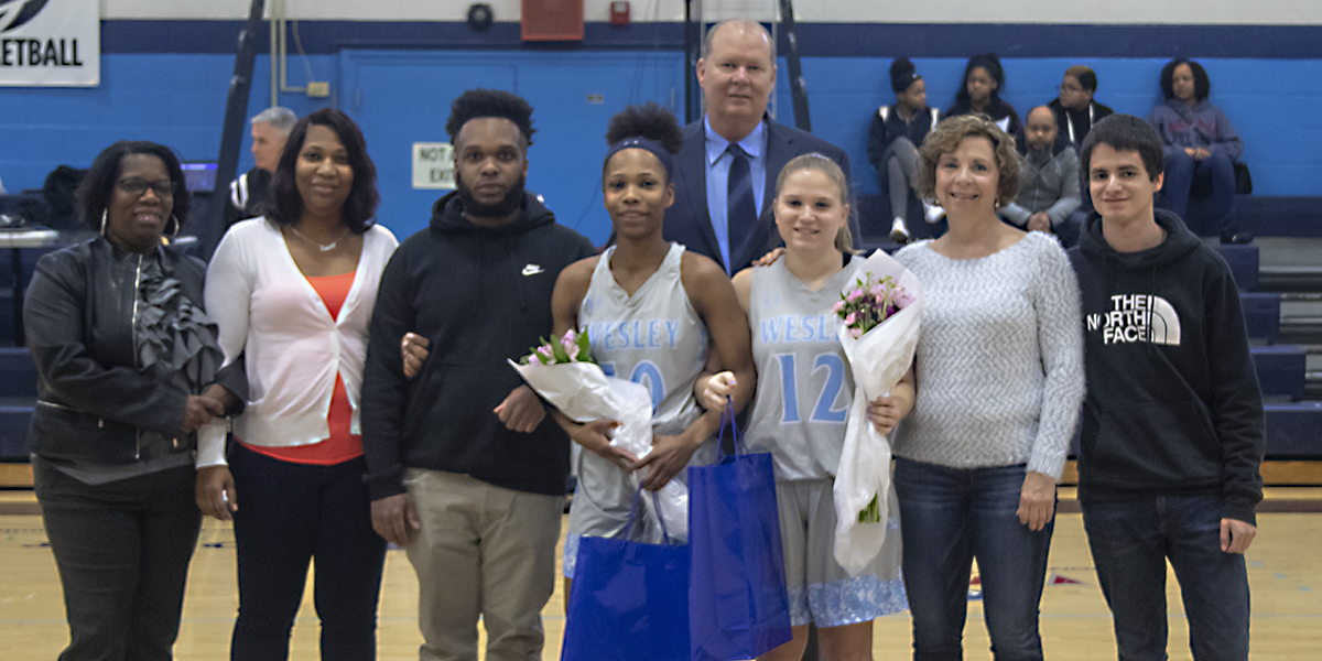 Women's Basketball celebrates seniors against Neumann