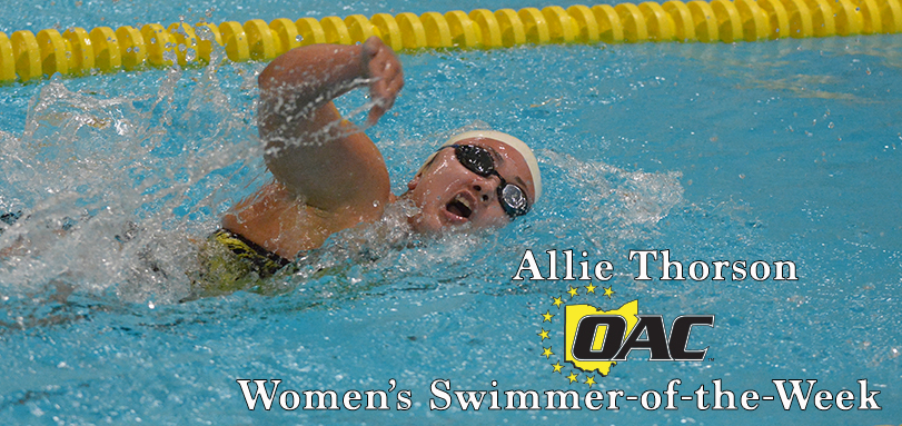 Thorson Earns First Career OAC Women's Swimmer of the Week Honor