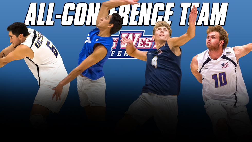 From L-R: Hayden Boehle, Corey Chavers, Ryan Wilcox and Brandon Hicks were honored by the Big West Conference on Monday.