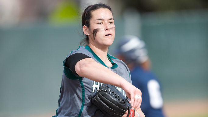 BROOKS' SHUTOUT AND 7-RUN INNING LEAD SOFTBALL TO 7-0 WIN VS. SAN DIEGO