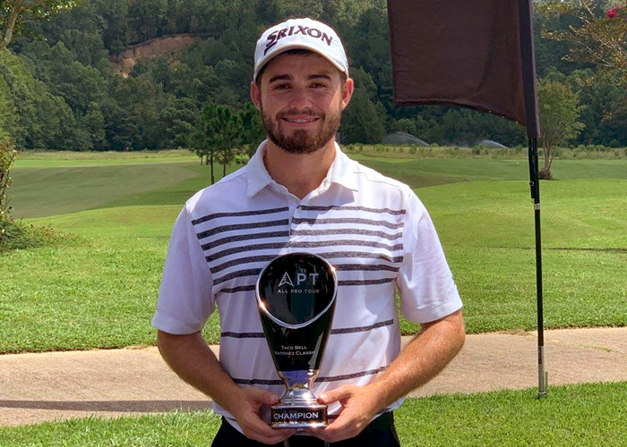 Former Huntingdon golfer Stephen Shephard won the Taco Bell Natchez Classic in his debut on the All Pro Tour. (Photo submitted)