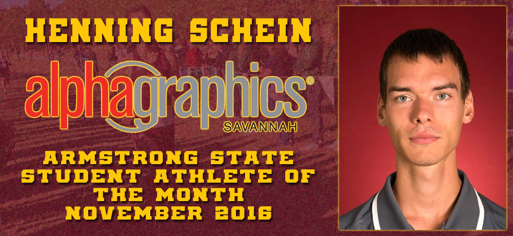 Henning Schein Named AlphaGraphics Armstrong State Student-Athlete of the Month for November 2016