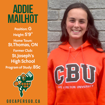WBB: Addie Mailhot Newest CAPER!