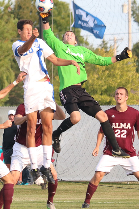 Garrison Mast, Alma, Men's Soccer Defensive Player of the Week 10/30/17