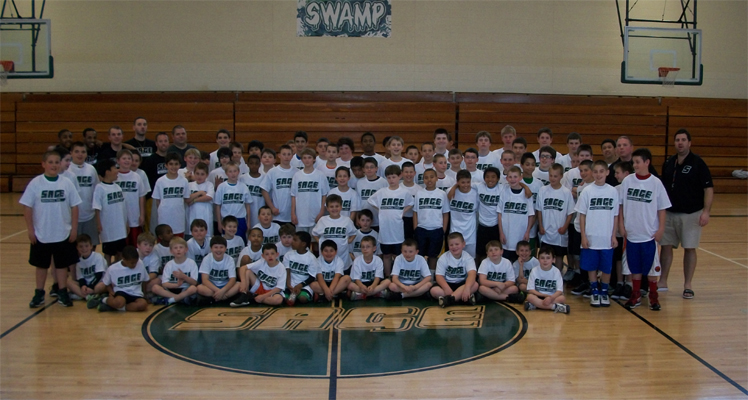Record turnout particpates in Sage Boys' Basketball Camp