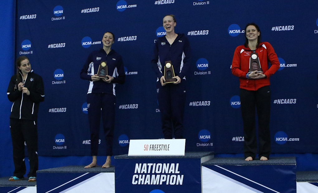 Fiona Muir Defends 50 Freestyle Title on First Day of NCAA Championships