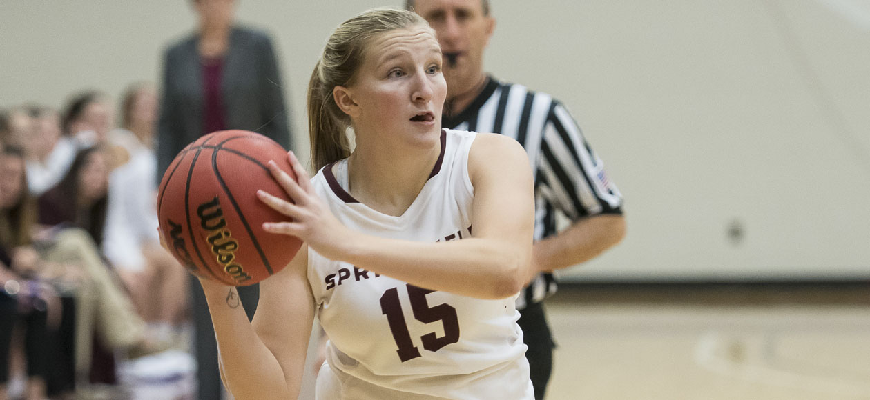 McAllister Leads Women's Basketball Past Wellesley, 70-53, in NEWMAC Play
