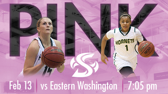 WOMEN'S BASKETBALL HOSTS EASTERN WASHINGTON THURSDAY IN PINK GAME