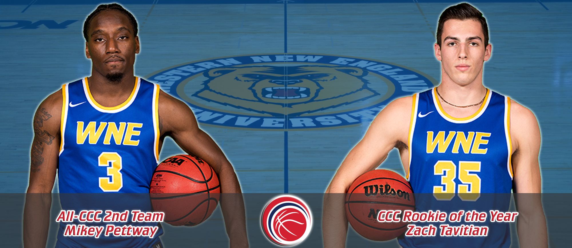 Pettway Earns All-CCC Second Team Honors, Tavitian Named CCC Rookie of the Year