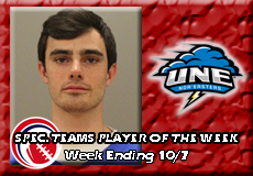 Robert Inniss Jr.-University of New England, CCC Football: Special Teams Player of the Week
