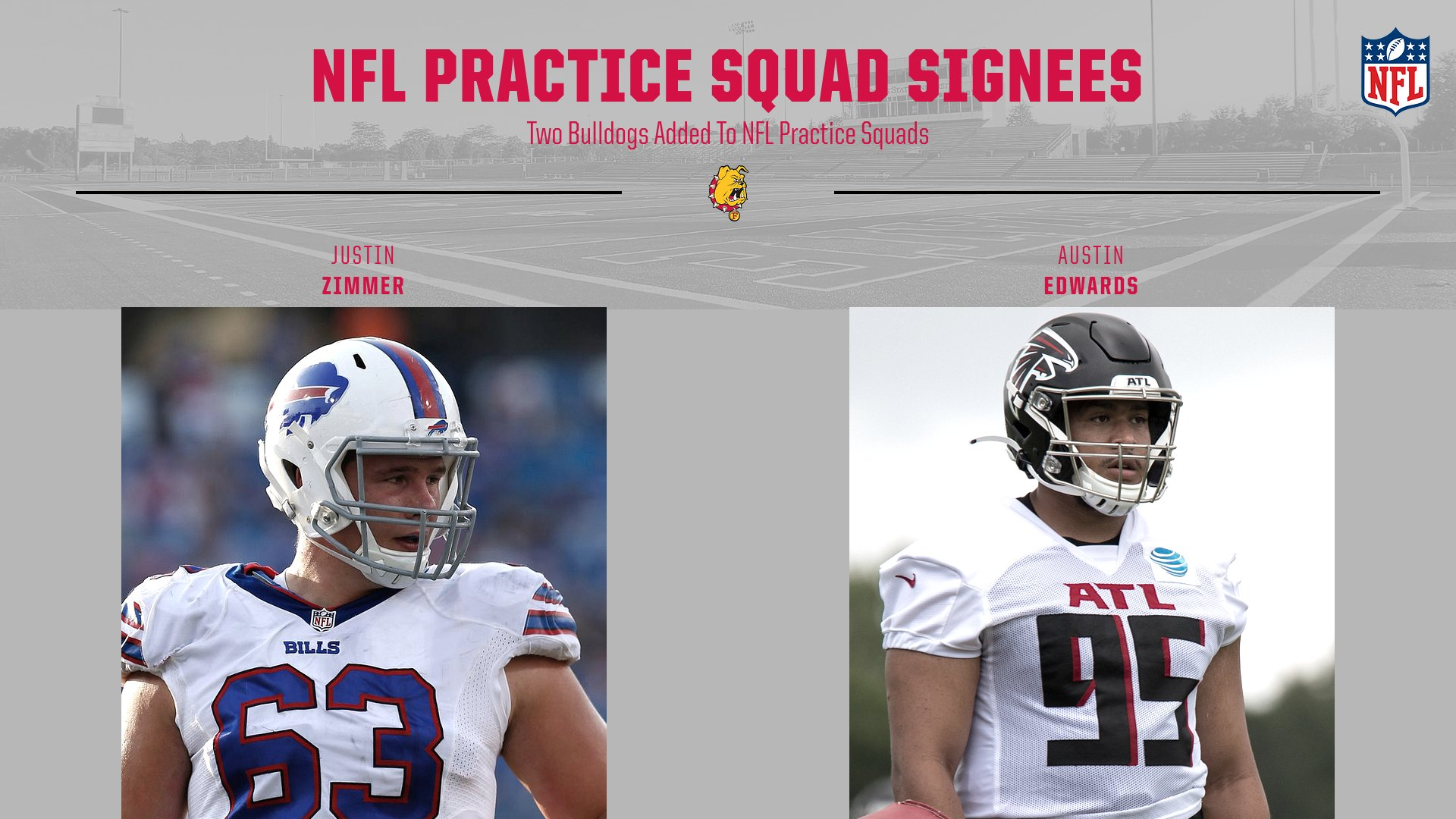 Two Ferris State Football Alums Signed To NFL Practice Squads