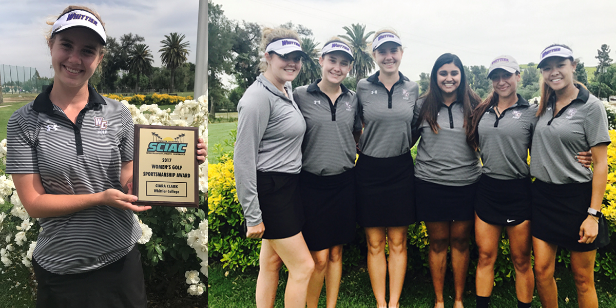 Poets finish 5th at SCIAC Championships; Ciara Clark earns SCIAC Sportsmanship Award