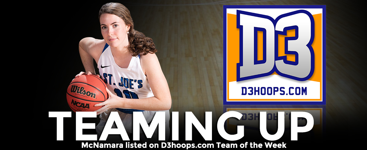 McNamara Listed on D3hoops.com Team of the Week