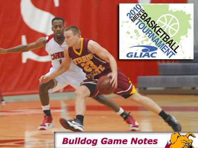 Senior guard Jon Yeazel & the Bulldogs take on Findlay in the GLIAC Semifinals this Friday (Photo by Rob Bentley)