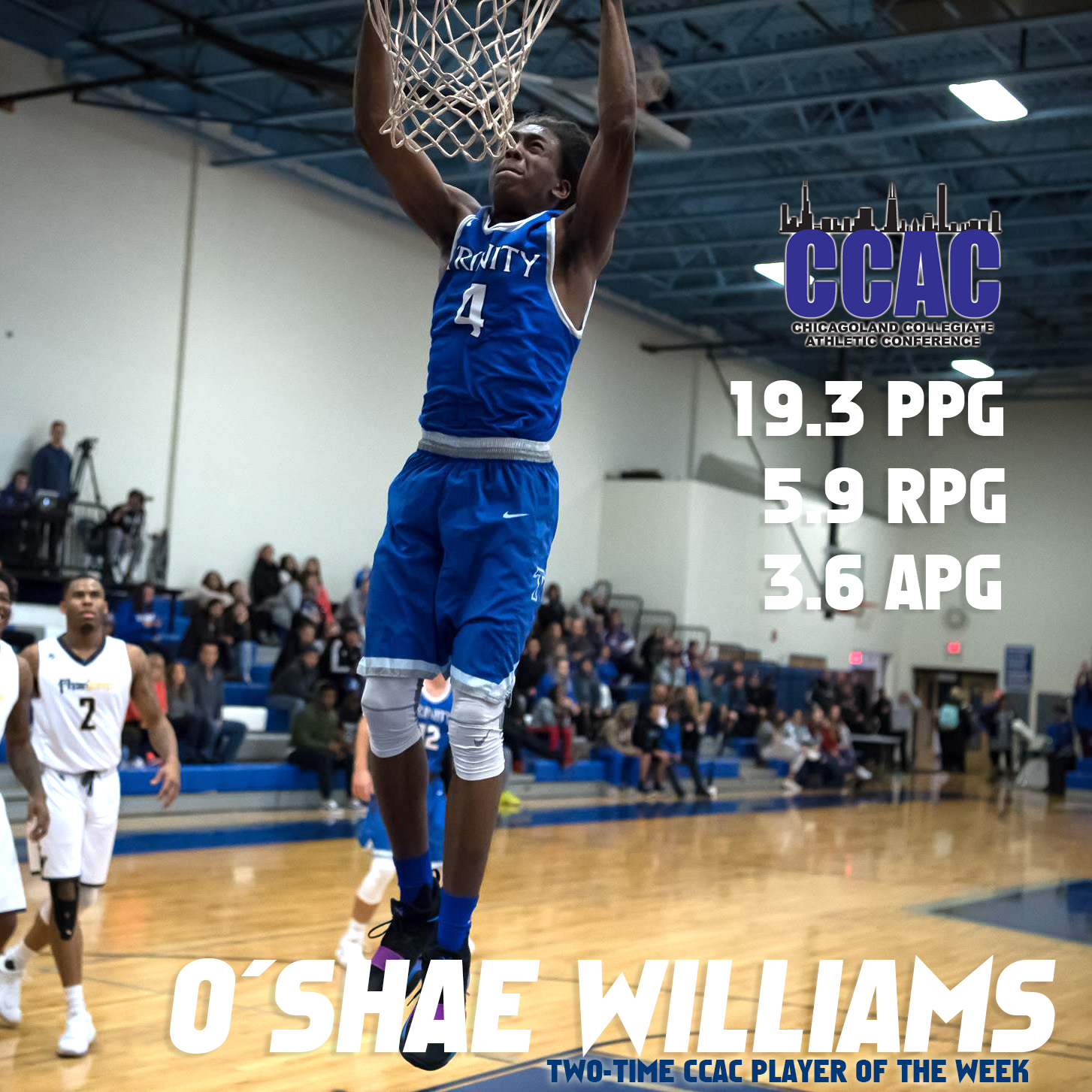Former Charger O'Shae Williams Showcasing Talent in CCAC