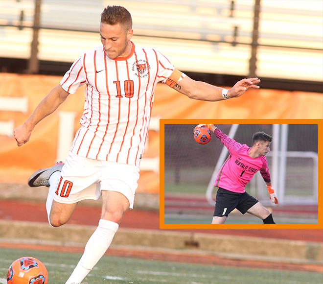 Buffalo State's Pavone and Queen chosen as SUNYAC Men's Soccer Athletes of the Week