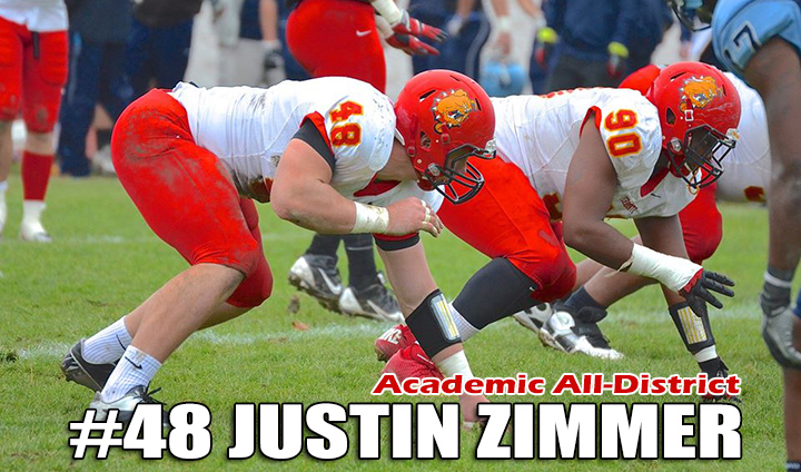 Ferris State Football's Justin Zimmer An Academic All-District Pick