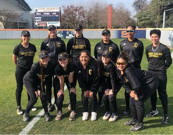 2020 Chabot College Softball team